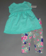 Baby girl clothes, 2T, Carter's embroidered top/matching floral pants