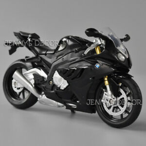 1:12 Diecast Motorcycle Model Toys BMW S1000RR Sport Bike Replica Collectable