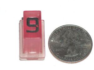 VTG Off A Rockola Jukebox Model 454 OEM Purple Plastic Select Button Number 9 VG