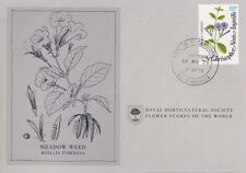 First Day Cover: ST. KITTS 1978 Royal Horticultural Society Flower Stamp!