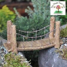 Fiddlehead Woodland Suspension Bridge fairy garden ornament accessory