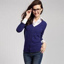 VANCL women Blue Premium Wool V Neck Cardigan  Medium NWT