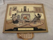 PHILLIPS 66 1952 THERMOMETER AND FIREPLACE SCENE DOWNS OIL DOWNS KANSAS & CALEND