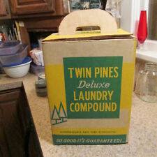 Detroit, Mich. Twin Pines Deluxe Laundry Soap box - Twin Pines Dairy  VERY RARE