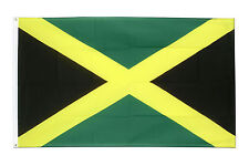 More details for jamaica jamaican caribbean national large 5 x 3ft fans supporters flag eyelets