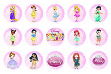 15 x Disney Princesses Baby Bottle Cap Logo Images for Necklaces, Magnets
