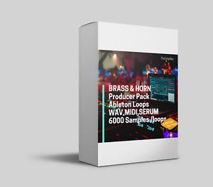BRASS & HORN Producer Pack 👹Ableton Loops WAV,MIDI,SERUM 🔥 6000 Samples /loops