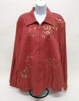 Women's Size 18 Alfred Dunner Long Sleeve Zip-Up Jacket