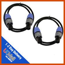 2 X 5m PROFESIONAL DJ PA Cable de altavoz Neutrik Speakon Cable