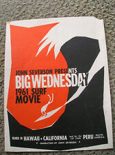 Vintage John Severson Surf movie poster surfing surfboard big wednesday 1961
