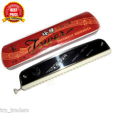 Original Tower Brand Chromatic Harmonica Mouth Organ With Change Lever