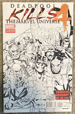 Deadpool Kills The Marvel Universe #4 2nd Printing variant sketch b/w second