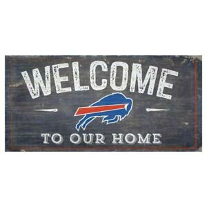 """Buffalo Bills Welcome to Our Home 12"""" x 6"""" Wood Sign [NEW] NFL Plaque Wall"""