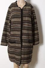 MONA Mantel Gr. 44 braun/beige Bouclé Muster Übergangs Damen Mantel mit Wolle