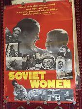 Soviet-era, Socialism Women Propaganda Poster 1975 - Communist Art, Communism