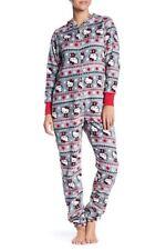 New NWT Christmas gift Hello Kitty Fair Isle Hooded Fleece Pajama Suit size M