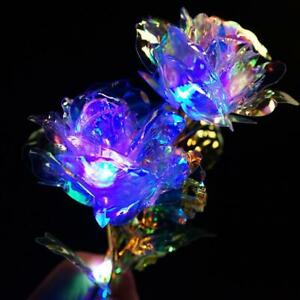 24K Gold Foil Rose Flower LED Luminous Galaxy Mother's Day Valentine HOT