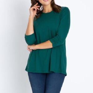 """O18 Jersey-Shirt in A-Form """"dunkelgrün"""" Gr. 40"""