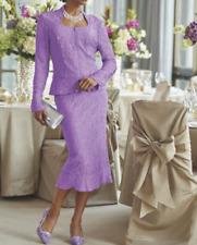 Ashro Formal Dress Lavender Carin Wedding Party Church Skirt Suit 14 16 22W PLUS