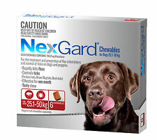 NexGard Flea and Tick Treatment for Dogs 25-50kg, 6 Pack - Red