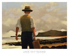 The Drifter Jack Vettriano Retro Art Print 19x18