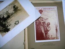 ART ET INDUSTRIE avril 1910 dessin HT prouvé industries art bretagne henriot etc