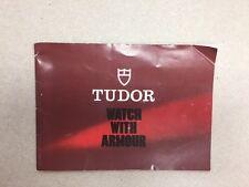 Rare Genuine Vintage / Retro Tudor Booklet Manual Vintage 8.1982