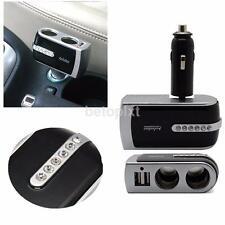 In Car 12V 2 Way Splitter Double Cigar Cigarette Lighter Socket Charger Adaptor