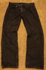 Mens Calvin Klein STRAIGHT CUT Leg Black Jeans Size 33 actual = 34 x 30
