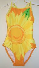 * New *  Hanna Anderson Yellow Sunflower Bathing Suit Sz 100 / 3-5 yr.