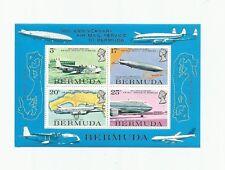 Bermuda 1975 Air Mail Service Sovenir Sheet Scott 321a Mint Never Hinged VF