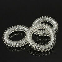 Transparent 3X Women Elastic Rubber Hairband Hair Tie Rope Band Ponytail HOTSALE