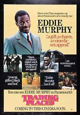 TRADING PLACES CineMasterpieces EDDIE MURPHY MOVIE POSTER UK 1983 ADVANCE TEASER
