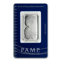 1 oz Pamp Suisse Platinum Bar .9995 Fine With Assay Cert.