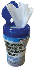 Streetwize Car Interior & Home Window, Mirror & Windscreen Cleaning Wipes -25pce