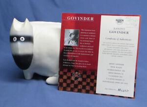 """Rare Govinder Nazran White Dog """"Bandit"""" Limited Edition US Sculpture #85/250 COA"""