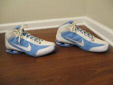 Used Worn Sz 14 Nike Zoom Air Shox Vision TB Shoes White, Carolina Blue, Silver