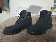 WOMENS BLACK SUEDE TIMBERLANDS SIZE 3.5 UK