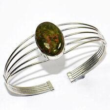 Unakite Gemstone 925 Silver Jewelry Adjustable Cuff
