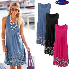 Sexy Women Summer Dress Casual Sleeveless Evening Party Beach Floral print Short