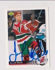 92/93 Upper Deck Jarrod Skalde New Jersey Devils Autographed Hockey Card