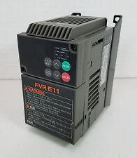Fuji FVR-E11 FVR0.4E11S-2 Inverter 200-230V, 3Ø, 0.2~400Hz Output - Working