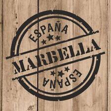 Vinilo de Corte Marbella Pegatina Marbella España 10 cm Adhesivo Pared Tablet