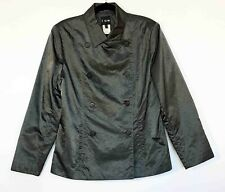 ICB Japanese Designer-Double Breasted Jacket-Shimmery Black-All Season-Size 14