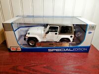 Maisto Jeep Wrangler Sahara 1:18 Scale Diecast Model Car 31662 Special Edition