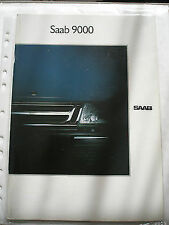 Saab 9000 range brochure 1989 Dutch text