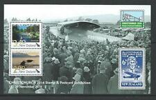 NEW ZEALAND 2016 CHRISTCHURCH STAMP AND POSTCARD EXHIBITION MS UNMOUNTED MINT,