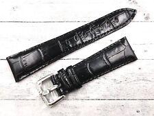 Locman Cinturino Stampa Coccodrillo Nero 21mm Fibbia Originale New Glossy Band
