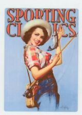 Vintage Style Fishing - Large Metal fridge / gun safe Magnet Sporting Classics
