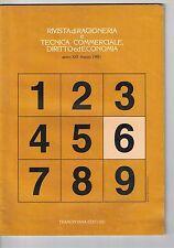 RIVISTA DI RAGIONERIA E TECNICA COMMERCIALE, DIRITTO ED ECONOMIA - N.6 - 03 1981